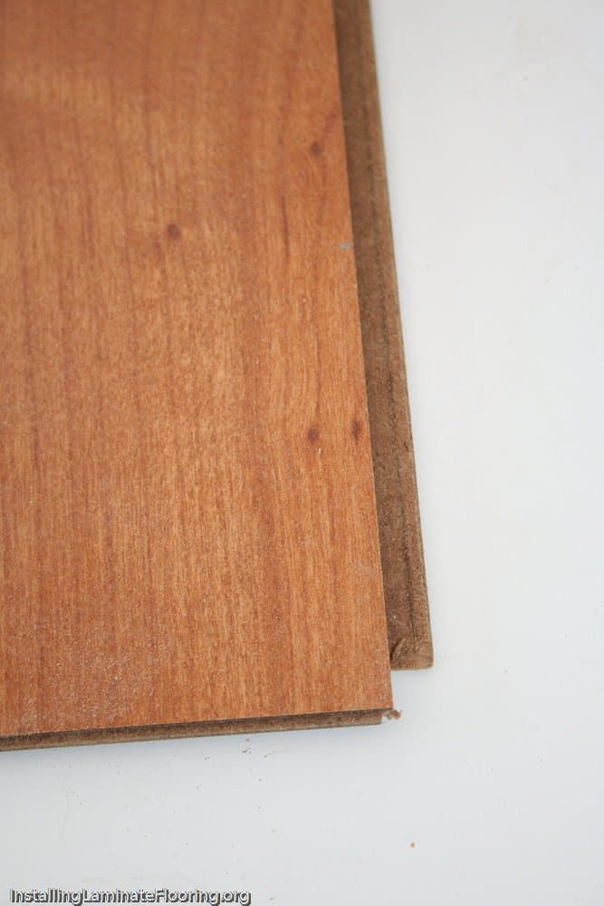 Laminate showing edge design details